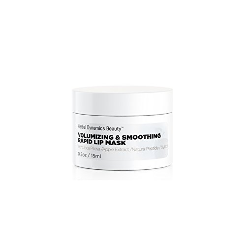 Herbal Dynamics Beauty - HD Beauty Volumizing & Smoothing Rapid Lip Mask with Apple Extract, Kiss-Me-Quick, Peptides, and Xylitol for Nature Volume and Softness, 0.5 oz.