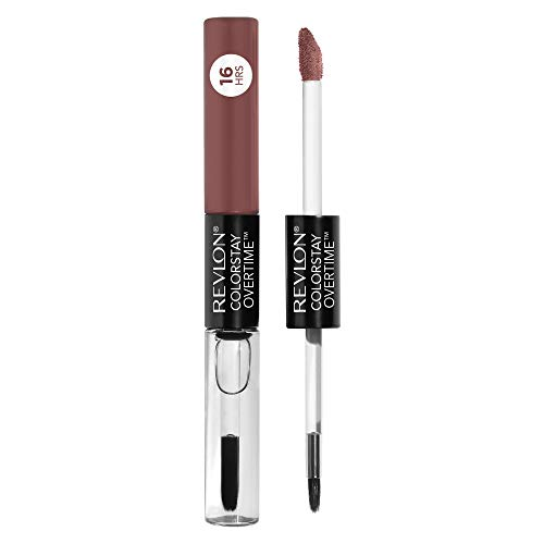 Revlon Revlon ColorStay Overtime Lipcolor, Dual Ended Longwearing Liquid Lipstick with Clear Lip Gloss, with Vitamin E in Nude