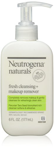 Neutrogena - Neutrogena Naturals Fresh Cleansing Daily Face Wash + Makeup Remover with Naturally-Derived Peruvian Tara Seed, Hypoallergenic, Non-Comedogenic & Sulfate-, Paraben- & Phthalate-Free, 6 fl. oz