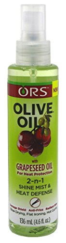 Organic Root (ORS) - Ors Olive Oil With Grapeseed Oil 2-N-1 Shine Mist & Heat Defense 4.6 Ounce (136ml) (3 Pack)