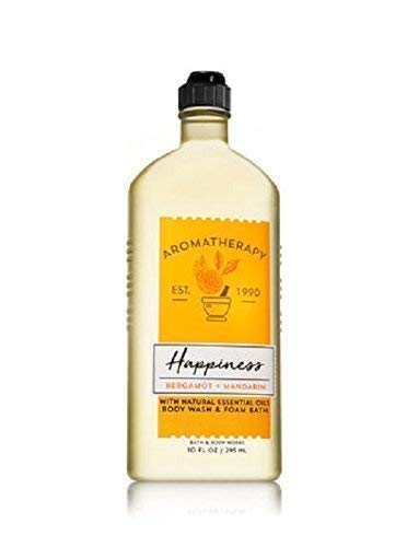 Bath & Body Works - Bath and Body Works Aromatherapy Happiness Bergamot and Mandarin Body Wash and Foam Bath 10 ounces