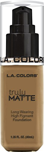 L. A. Colors - L.A. Colors Truly MATTE Long Wearing High Pigment Foundation (CLM362 Warm Caramel)