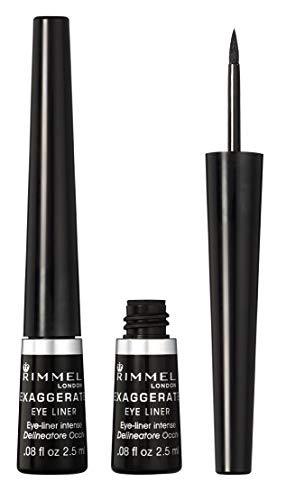 Rimmel - Rimmel Exaggerate Felt Tip Eye Liner, Black - Easy Precise Application Long Lasting Felt Tip Liquid Eye Liner Pen