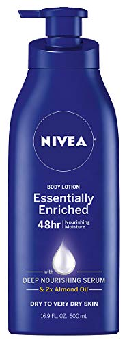 Nivea - NIVEA Essentially Enriched Body Lotion - 48 Hour Moisture For Dry to Very Dry Skin - 16.9 fl. oz. Pump Bottle