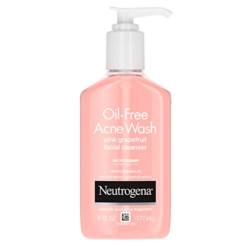 Neutrogena - Neutrogena Oil-Free Pink Grapefruit Pore Cleansing Acne Wash and Daily Liquid Facial Cleanser with 2% Salicylic Acid Acne Medicine and Vitamin C, 6 fl. oz