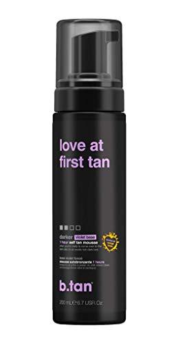 b.tan b.tan Self Tan Mousse - Love at First Tan - Violet Sunless Tanner For Fast, Rich Dark Tan, 6.7 fl oz