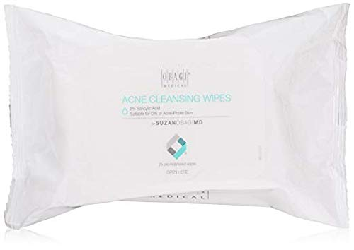 Obagi Medical - SUZANOBAGIMD On the Go Cleansing Wipes for Oily or Acne Prone Skin, 25 count