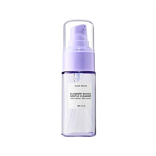 Glow Recipe - Glow Recipe Blueberry Bounce Gentle Cleanser Mini Travel Size 1 Ounce Facial Makeup Eraser