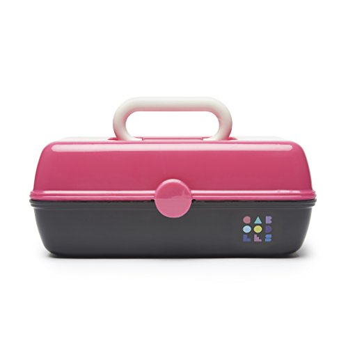 Caboodles - Caboodles Pretty in Petite Hot Pink Lid and Black Base Vintage Case, 1 Pound