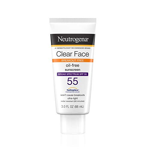 Neutrogena - Neutrogena Clear Face Sunscreen Lotion, SPF 55, 3 Ounce
