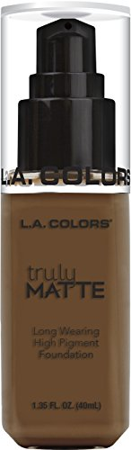 L. A. Colors - Truly Matte Long Wearing High Pigment Foundation, Mahogany