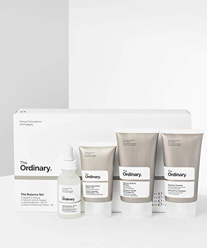 Deciem The Ordinary The Balance Set (4 Pcs: Squalance Cleanser + Salicylic Acid 2% Masque + Niacinamide 10% + Zinc 1% + Natural Moisturizing Factors + HA)