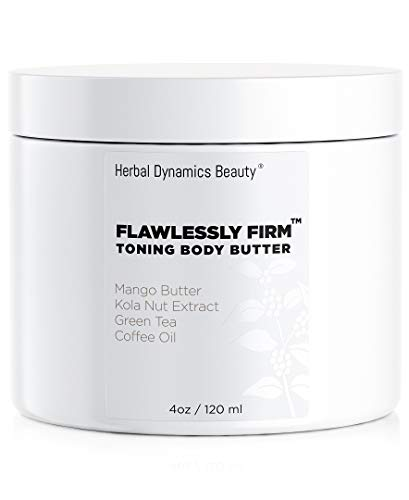 Herbal Dynamics Beauty - HD Beauty Flawlessly Firm Toning Body Butter with Mango Butter, Kola Nut Extract, Green Tea, Coffee Oil, Avocado Oil, and Vitamin E for Diminishing Appearance of Cellulite, 4.0 oz