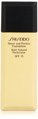 Shiseido - Shiseido Shiseido sheer and perfect foundation spf 18 - #b100 very deep beige, 1oz, 1 Ounce