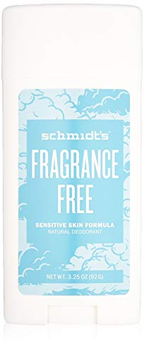 Schmidt's Deodorant - Schmidt's Natural Deodorant for Sensitive Skin - Fragrance-Free, 3.25 ounces. Stick for Women and Men