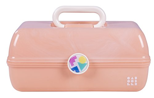 Caboodles - On-the-Go Girl Peach Marble Vintage Case