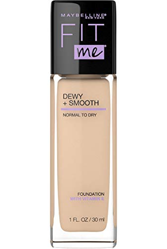 Maybelline New York - Maybelline Fit Me Dewy + Smooth Foundation Makeup, 118 Light Beige, 1 fl. oz. (Pack of 2)
