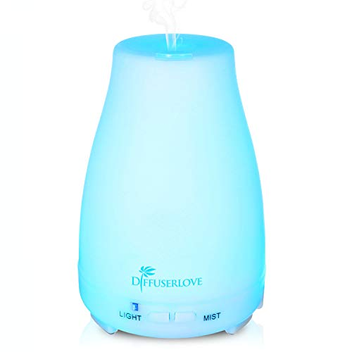 Diffuserlove - Diffuserlove MAX 220ML Essential Oil Diffuser Ultrasonic Remote Control Aromatherapy Diffuser Mist Humidifiers with 7 Color LED Lights and Waterless Auto Shut-off for Bedroom Office House Kitchen Yoga