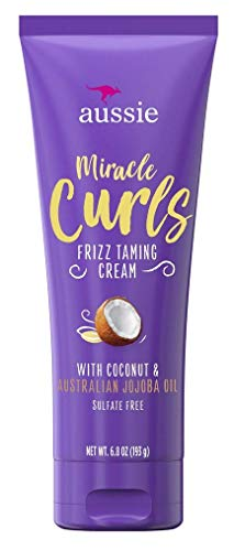 Aussie - Aussie Miracle Curls Frizz Taming Cream 6.8 Ounce (Coconut & Jojoba Oil) (3 Pack)