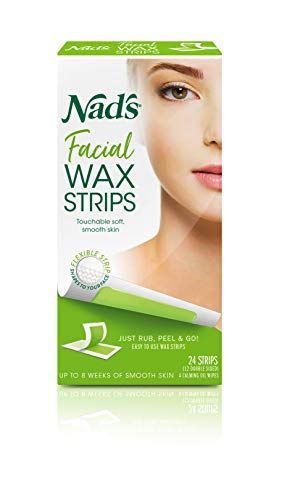 Nad'S - Nad's Hypoallergenic Facial Wax Strips, 24 strips (Pack of 2)