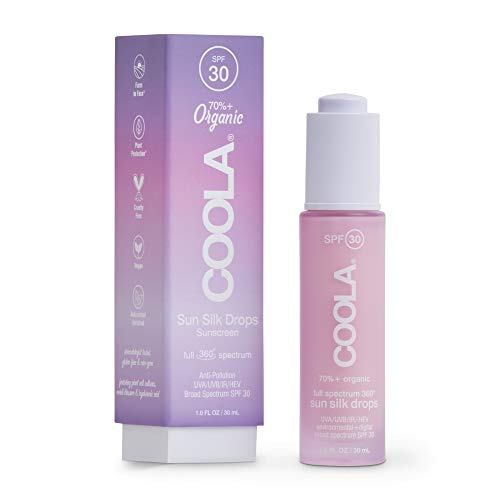 Coola - COOLA Organic Sunscreen Sun Silk, Full Spectrum Skin Care for Digital UV Protection, Broad Spectrum SPF 30, Reef Safe