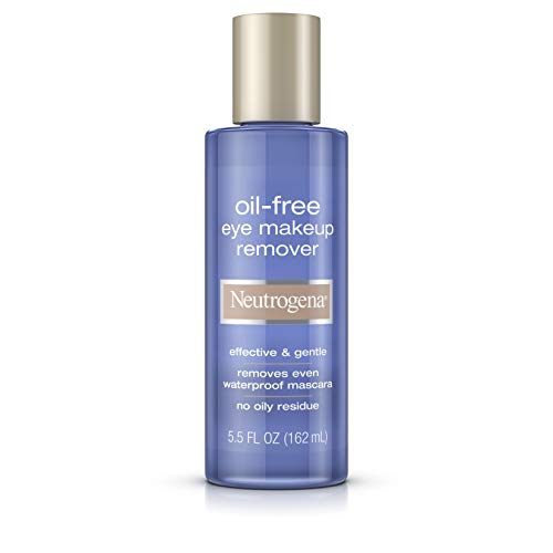 Neutrogena - Neutrogena Gentle Oil-Free Eye Makeup Remover & Cleanser for Sensitive Eyes, Non-Greasy Makeup Remover, Removes Waterproof Mascara, Dermatologist & Ophthalmologist Tested, 5.5 fl. oz ( Pack of 6)