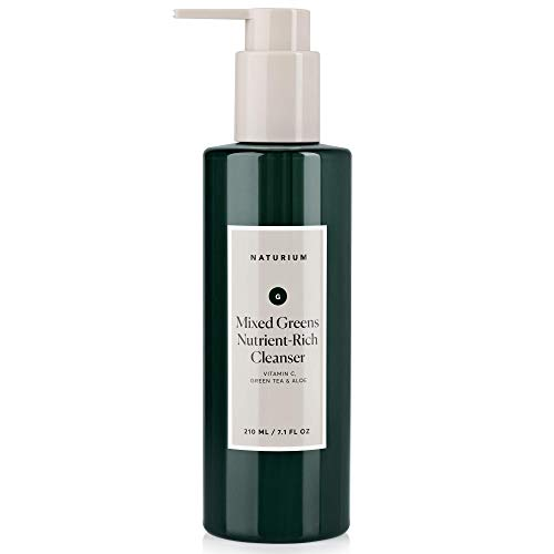 Naturium - Mixed Greens Nutrient-Rich Facial Cleanser - 7.1 oz, Anti-Aging, Breakout, Acne & Blemish Prevention, Clear Pores, Anti-Wrinkle Gel Face Wash with Vitamin C, Green Tea & Aloe by Naturium
