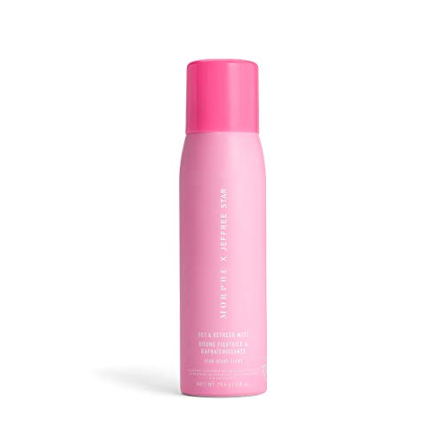 Morphe - Morphe x Jeffree Star Set & Refresh Mist - Makeup Setting Spray for Dry to Normal Skin Types - Super Light and Hydrating Formula Infused with Glycerin and Vitamin E - Star-berry Scent