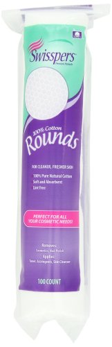 Swisspers - Swisspers 100% Cotton Rounds, Soft and Absorbent, 1-Pack (100 Count)