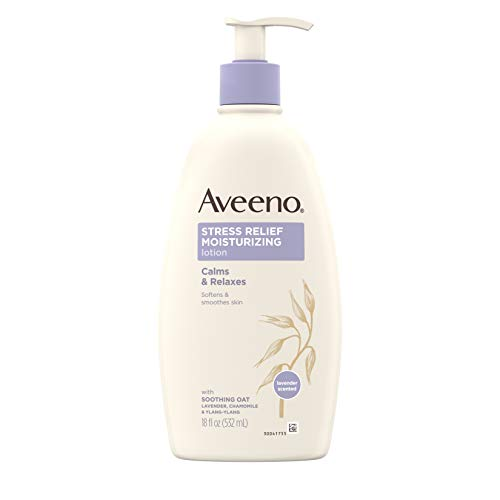 Aveeno - Aveeno Stress Relief Moisturizing Body Lotion with Lavender, Natural Oatmeal and Chamomile & Ylang-Ylang Essential Oils to Calm & Relax, 18 fl. oz (Pack of 3)