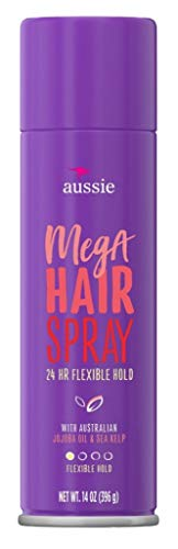 Aussie - Aussie Hairspray Mega 14 Ounce 24 Hour Flexible Hold (6 Pack)