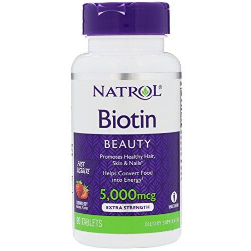 Natrol Natrol Biotin Fast Dissolve Tablets, 5,000mcg,
