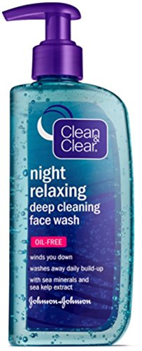 Clean & Clear - Clean & Clear Night Relaxing Deep Cleaning Face Wash Oil Free, 8 oz (Pack of 5)