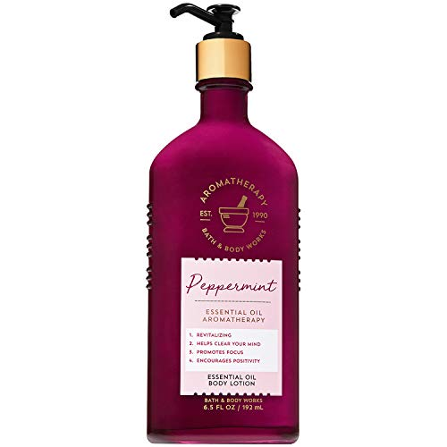 Bath & Body Works - Bath and Body Works Aromatherapy Peppermint Essential Oil Body Lotion 6.5 Fluid Ounce