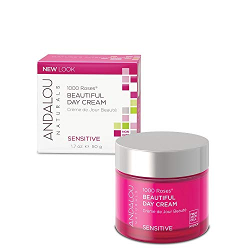 Andalou Naturals - Andalou Naturals 1000 Roses Beautiful Day Cream, 1.7 Ounce, For Sensitive, Dry, Delicate or Easily Irritated Skin, Soothes & Calms
