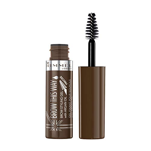 Rimmel - Rimmel Brow This Way, Lightweight Eyebrow Gel, Medium Brown, 0.17 oz, Define & Sculpt Your Brows with Professional Level Styling Products