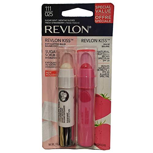 Revlon Kiss Duo - Revlon Kiss Duo Exfoliating Balm Sugar Mint/Balm Fresh Strawberry