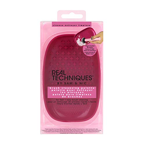 Real Techniques - Real Techniques Heat Resistant Brush Cleansing Palette, for Removing Makeup, Oil, and Impurities from Brush Bristles for a Truer, More Consistent Color Application