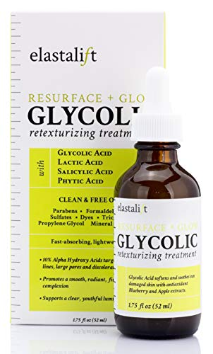 Elastalift - Resurfacing Glycolic Acid Peel. Anti-Aging Dark Spot Corrector Facial Peel Reduces Enlarged Pores, Minimizes Fine Lines, Evens Skin Tone Exfoliating Chemical Peel by Elastalift, 1.75 oz.