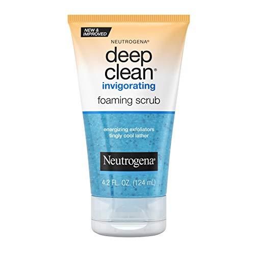 Neutrogena - Neutrogena Deep Clean Invigorating Foaming Face Scrub with Glycerin, Cooling & Exfoliating Face Wash to Remove Dirt, Oil & Makeup, 4.2 fl. oz