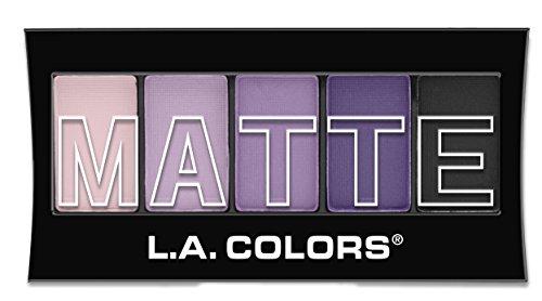 L. A. Colors - L.A. Colors 5 Color Matte Eyeshadow, Purple Cashmere, 0.08 Ounce
