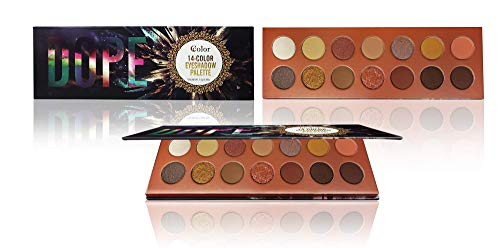 Ccolor Dope - 14 Color Eyeshadow Palette - Highly Pigmented - Professional Formulation