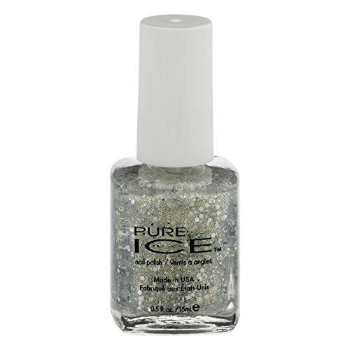 Pure Ice - Bari Pure Ice Nail Polish, 1158 Poppin Bottles, Silver Glitter, 0.5 oz