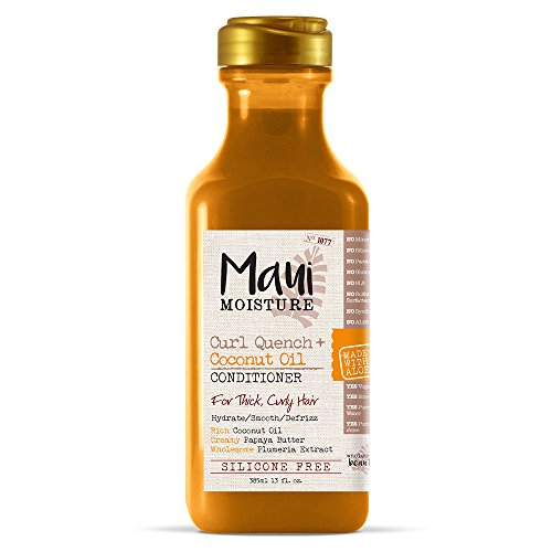 Maui Moisture - Maui Moisture Curl Quench + Coconut Oil Conditioner, 13 Ounce, Silicone Free Conditioner Ideal for Thick, Curly Hair, Defines, Detangles & Defrizzes Hair