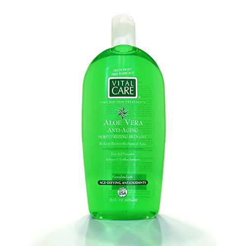Key Brands - Vital Care Enriched Skin Treatments Aloe Vera Anti-aging Moisturizing Skin Gel, First Aid Protection, Relieves & Soothes Sunburn
