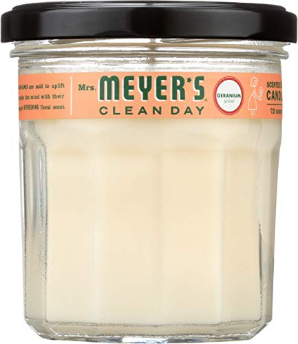 Mrs. Meyer'S - Mrs. Meyer's Clean Day Scented Soy Candle, Geranium Scent, 7.2 ounce candle