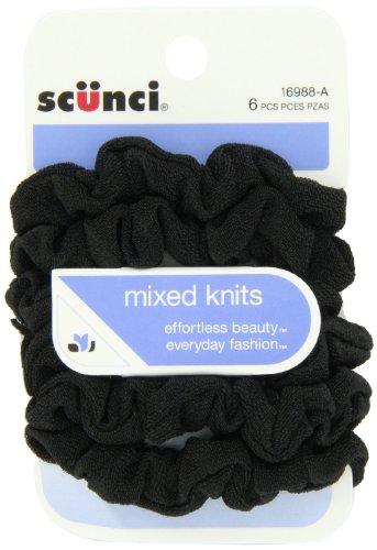 Scünci - Effortless Beauty Mini Slinky Black Twisters