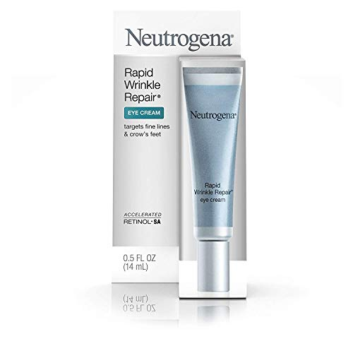 Neutrogena - Neutrogena Rapid Wrinkle Repair Hyaluronic Acid Retinol Under Eye Cream - Anti Wrinkle Eye Cream for Dark Circles & Puffiness & Under Eye Bags - Hyaluronic Acid, Glycerin & Retinol Cream, 0.5 fl. oz
