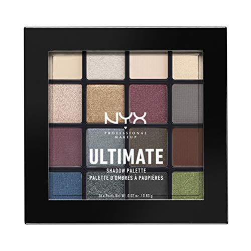 NYX - NYX PROFESSIONAL MAKEUP Ultimate Shadow Palette, Smokey and Highlight, 0.46 Ounce