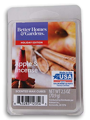 Seasonal Décor - Better Homes and Gardens Scented Wax Cubes 2020 Editions - Apple & Incense - 2.5 Oz